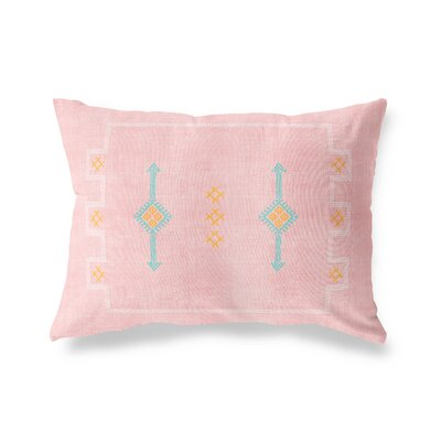 Stellan Rectangular Lumbar Pillow Size: 12 x 16, Color: Blush