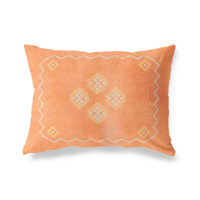 Stellan Double Sided Print Lumbar Pillow Size: 18 x 24, Color: Orange