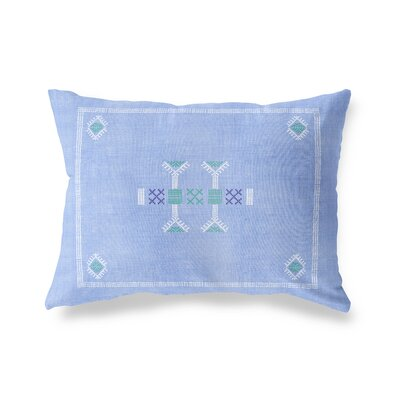 Zoe Lumbar Pillow Size: 12 x 16, Color: Blue