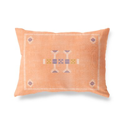 Zoe Lumbar Pillow Size: 18 x 24, Color: Orange