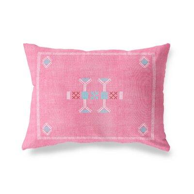 Zoe Lumbar Pillow Size: 18 x 24, Color: Pink