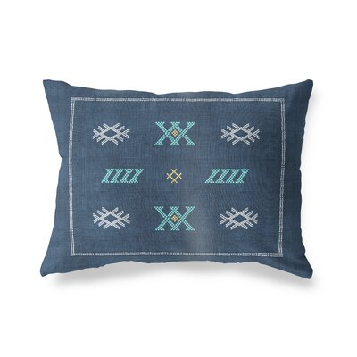 Touete Outdoor Lumbar Pillow Color: Navy