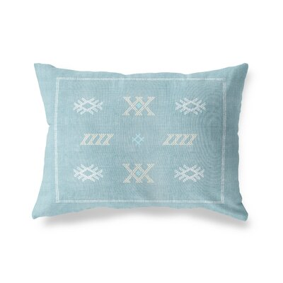 Touete Lumbar Pillow Size: 12 x 16, Color: Aqua