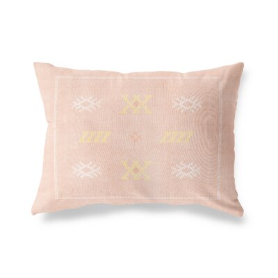 Touete Lumbar Pillow Size: 12 x 16, Color: Dusty Rose