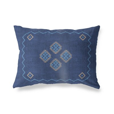 Stellan Double Sided Print Lumbar Pillow Size: 18 x 24, Color: Indigo