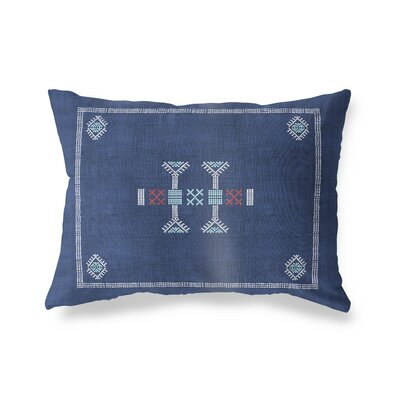 Zoe Lumbar Pillow Size: 12 x 16, Color: Navy