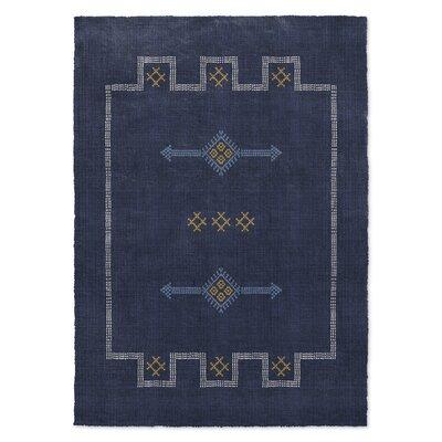 Stellan Navy Area Rug Rug Size: 8 x 10