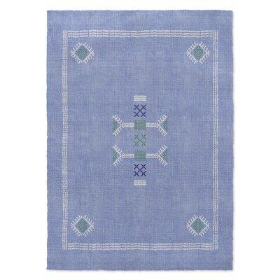 Zoe Kilim Blue Area Rug Rug Size: 3 x 5