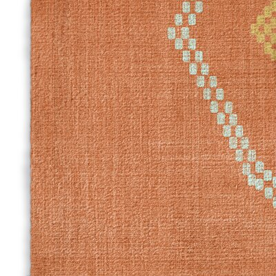 Stellan Kilim Orange Area Rug Rug Size: 5 x 7