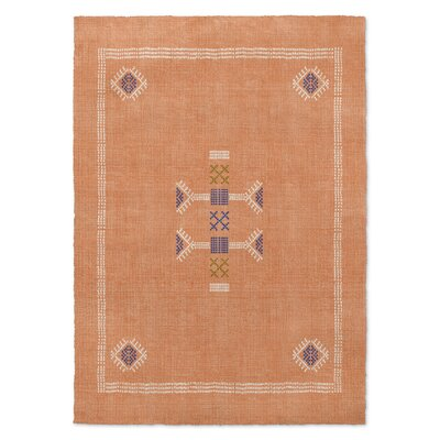 Zoe Kilim Orange Area Rug Rug Size: 5 x 7