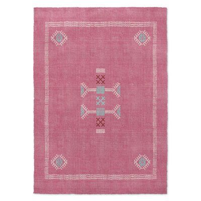 Zoe Kilim Pink Area Rug Rug Size: 8 x 10