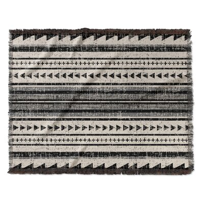 Lenore Woven Blanket Size: 60 W x 80 L, Color: Ivory/Gray/Beige