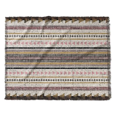 Lenore Woven Blanket Size: 60 W x 80 L, Color: Orange/Yellow/Purple