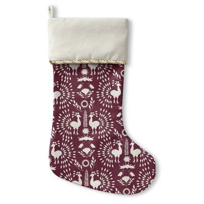 Christmas Scandinavian Holiday Stocking Color: Plum