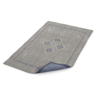 Stellan Kilim Gray Area Rug Rug Size: 5 x 7