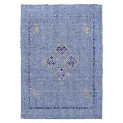 Stellan Kilim Blue Area Rug Rug Size: 2 x 3