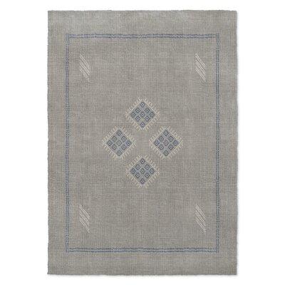 Stellan Kilim Gray Area Rug Rug Size: 2 x 3