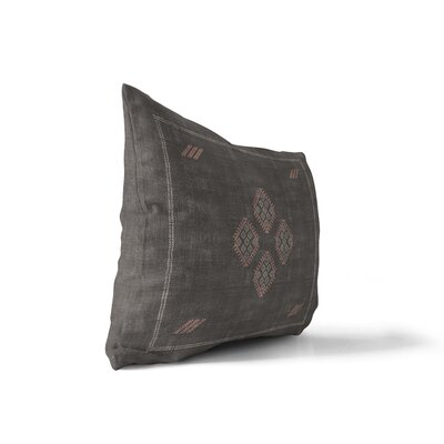 Stellan Kilim Lumbar Pillow Color: Black, Size: 18 x 24