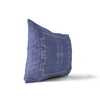 Stellan Silk Lumbar Pillow Color: Indigo, Size: 12 x 16