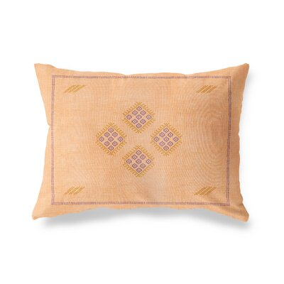 Stellan Kilim Lumbar Pillow Color: Orange, Size: 12 x 16