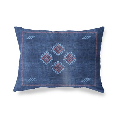 Stellan Kilim Lumbar Pillow Color: Navy, Size: 12 x 16