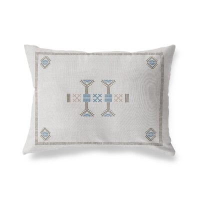 Zoe Kilim Lumbar Pillow Color: Gray, Size: 18 x 24