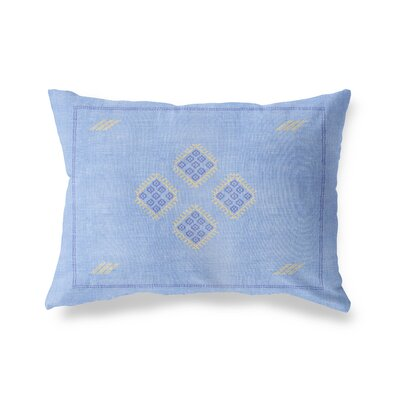 Stellan Kilim Lumbar Pillow Color: Blue, Size: 12 x 16