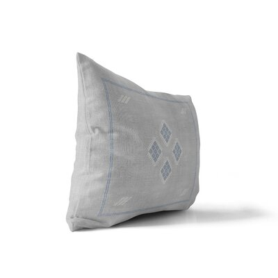 Stellan Kilim Lumbar Pillow Color: Gray, Size: 12 x 16
