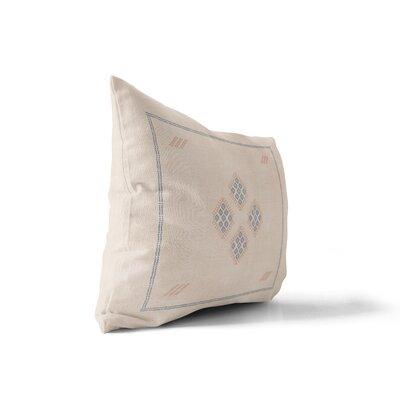 Stellan Kilim Lumbar Pillow Color: Cream, Size: 18 x 24
