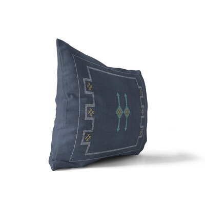 Stellan Silk Lumbar Pillow Color: Navy, Size: 12 x 16