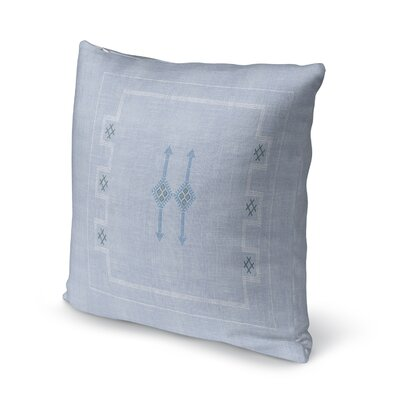 Stellan Throw Pillow Color: Light Blue, Size: 24 x 24