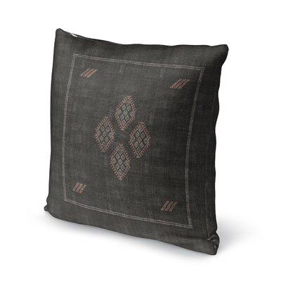 Stellan Kilim Throw Pillow Color: Black, Size: 16 x 16