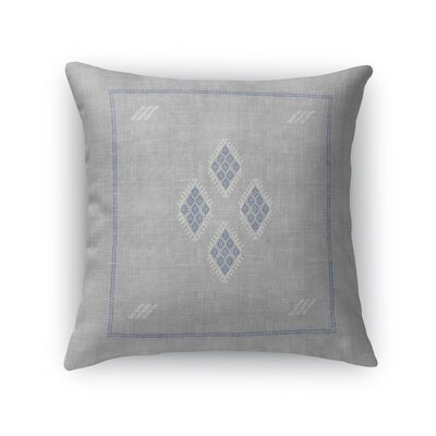 Stellan Kilim Throw Pillow Color: Gray, Size: 16 x 16