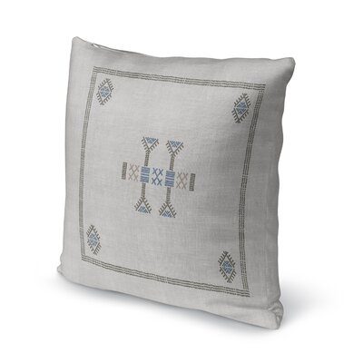 Zoe Kilim Throw Pillow Color: Gray, Size: 24 x 24