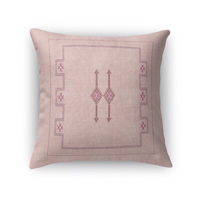 Stellan Throw Pillow Color: Pink, Size: 24 x 24