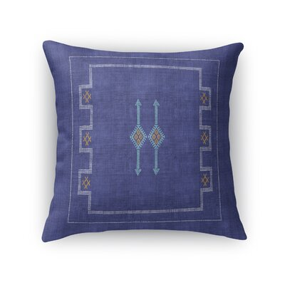 Stellan Throw Pillow Color: Indigo, Size: 24 x 24