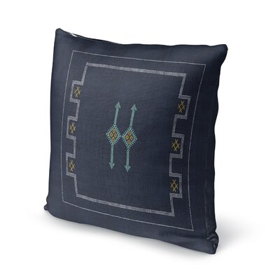 Stellan Throw Pillow Color: Navy, Size: 24 x 24