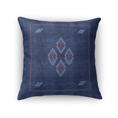 Stellan Kilim Throw Pillow Color: Navy, Size: 24 x 24