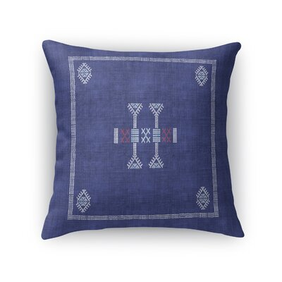 Zoe Kilim Throw Pillow Color: Indigo, Size: 16 x 16