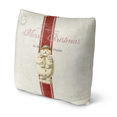 Marineth Snow Man Outdoor Throw Pillow Size: 16 x 16