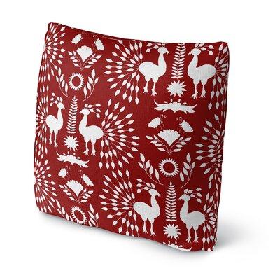 Kaivhon Outdoor Throw Pillow Size: 18 x 18, Color: Red