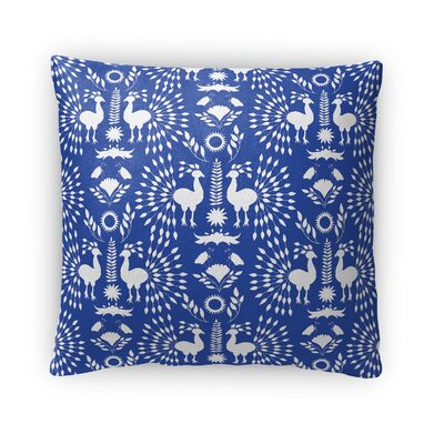 Morel Outdoor Throw Pillow Size: 16 x 16, Color: Blue