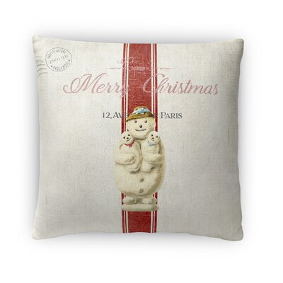 Marineth Snow Man Outdoor Throw Pillow Size: 16 x 16