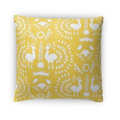 Kaivhon Outdoor Throw Pillow Size: 16 x 16, Color: Yellow