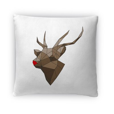Rudolf Outdoor Throw Pillow Size: 16 x 16