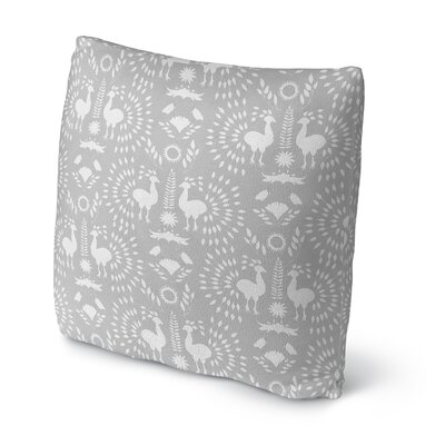 Morel Outdoor Throw Pillow Size: 16