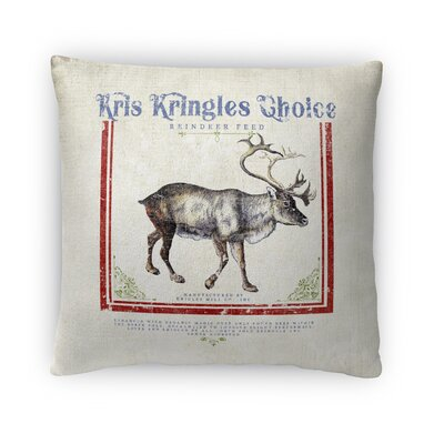 Reindeer Feed Throw Pillow Size: 16 x 16