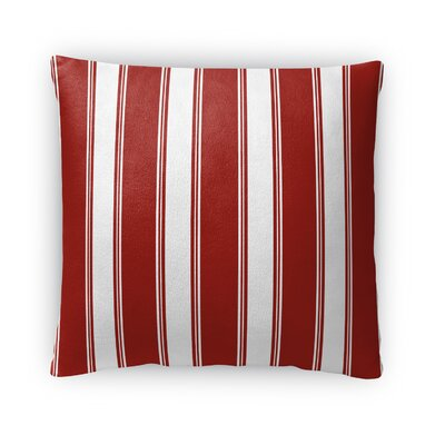 Wayland Candy Cane Stripes Outdoor Throw Pillow Size: 16 x 16