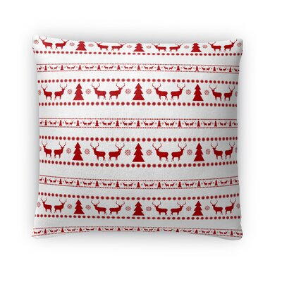 Deer and Trees Outdoor Throw Pillow Size: 18 x 18