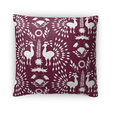 Kaivhon Outdoor Throw Pillow Size: 18 x 18, Color: Plum Purple